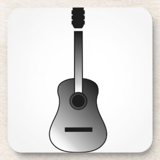 Acoustic guitar is simple colors beverage coaster