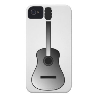 Acoustic guitar is simple colors Case-Mate iPhone 4 cases