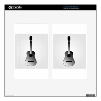 Acoustic guitar is simple colors kindle fire decal
