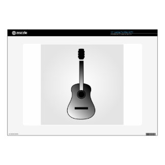 Acoustic guitar is simple colors laptop skin