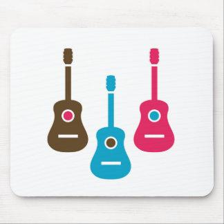 Acoustic guitar is simple colors mouse pad