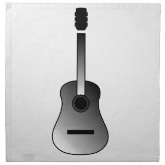Acoustic Guitar Is Simple Colors Napkin