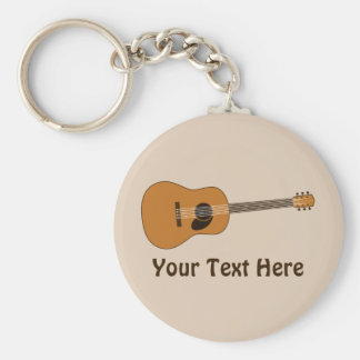 Acoustic Guitar Key Chain