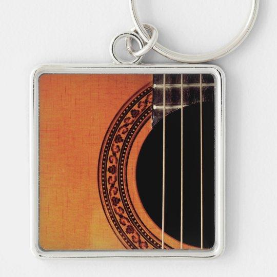 Acoustic Guitar Keychain