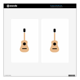 Acoustic guitar kindle fire decal