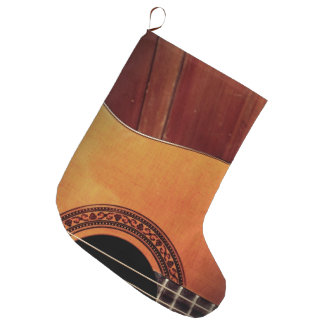 Acoustic Guitar Large Christmas Stocking