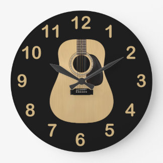 Acoustic Guitar Large Clock