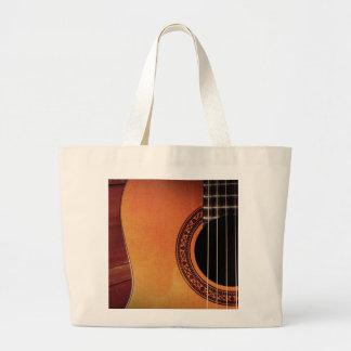 Acoustic Guitar Large Tote Bag