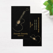 Acoustic Guitar Logo Business Card Template at Zazzle