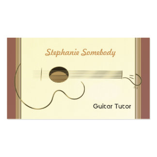 Acoustic Guitar Logo Business Card Template