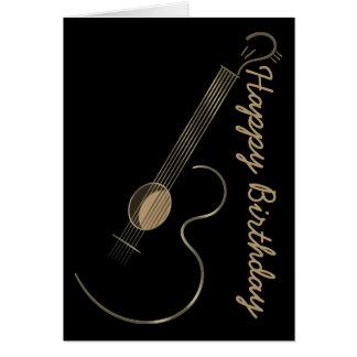 Acoustic Guitar Logo Greetings Card