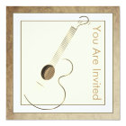 Acoustic Guitar Logo Invitations