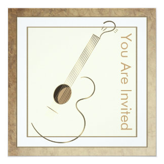 Acoustic Guitar Logo Invitations