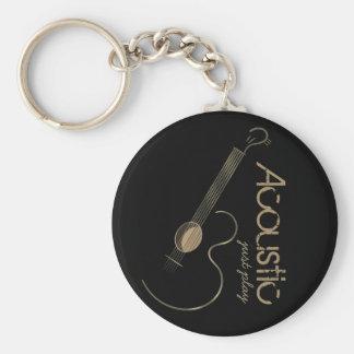 Acoustic Guitar Logo Keychain