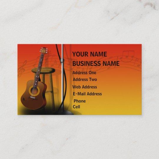 Acoustic guitar music business card zazzle acoustic guitar music business card colourmoves