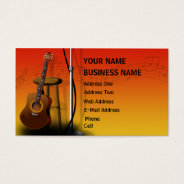 Acoustic Guitar - Music Business Card at Zazzle