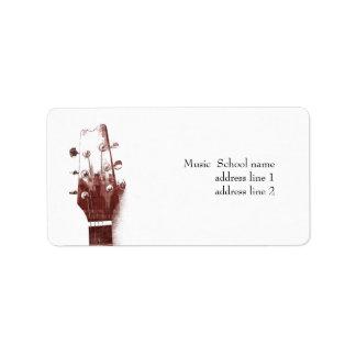 Acoustic guitar - music school label