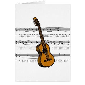 Acoustic Guitar musical 07 B Greeting Cards