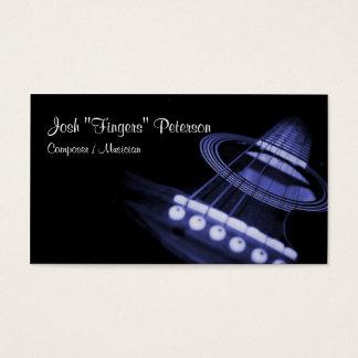 Acoustic Guitar Musician Blue Business Card
