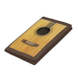 Acoustic Guitar Nylon Tri-fold Wallet