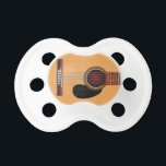 "Acoustic Guitar Pacifier<br><div class=""desc"">Illustration of a classic acoustic guitar.</div>"