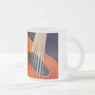 Acoustic guitar painting 10 oz frosted glass coffee mug