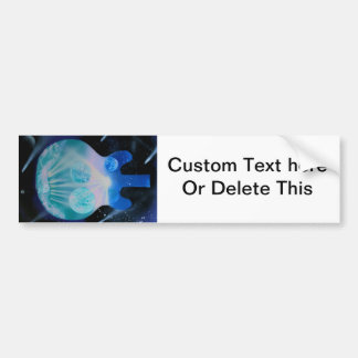 acoustic guitar painting blue pink teal planets car bumper sticker