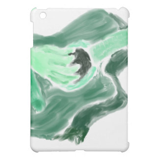 Acoustic guitar painting image green version iPad mini case
