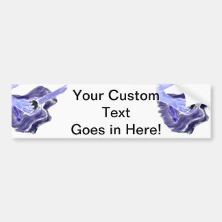 Acoustic guitar painting one arm blue grey bumper sticker