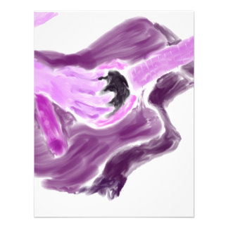 Acoustic guitar painting one arm purple version custom invites