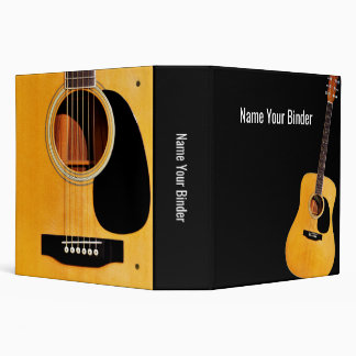 Acoustic Guitar Personalized Music Binder