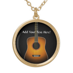 Acoustic Guitar Personalized Music Necklace