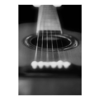acoustic guitar perspective print