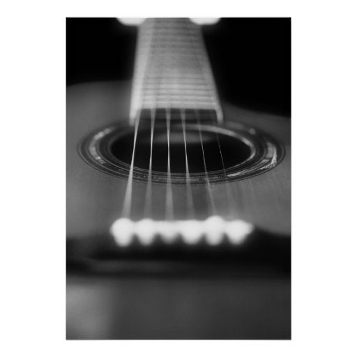 acoustic guitar perspective poster