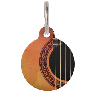 Acoustic Guitar Pet ID Tag