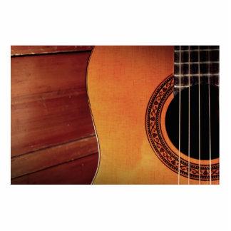 Acoustic Guitar Standing Photo Sculpture