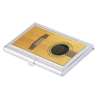 Acoustic Guitar Business Card Holder