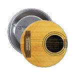 Acoustic Guitar Pinback Button