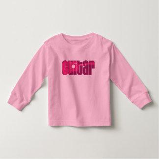 Acoustic Guitar Pink Toddler T-shirt