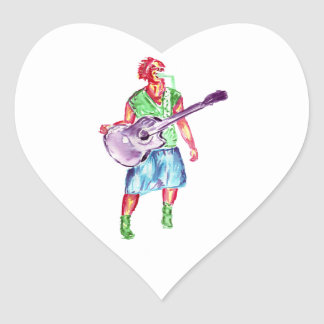 acoustic guitar player female singer musician stickers