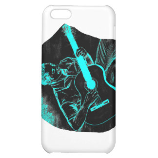 acoustic guitar player invert black turqoise cover for iPhone 5C