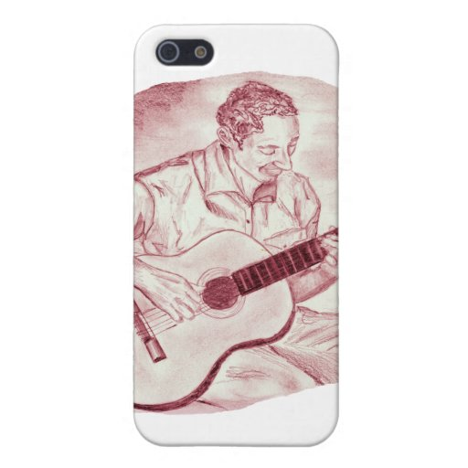acoustic guitar player sit burgundy sketch cases for iPhone 5