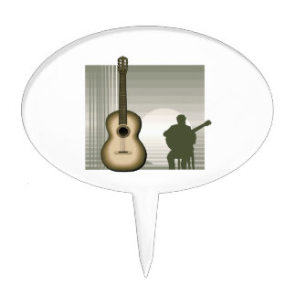 acoustic guitar player sitting brown.png cake pick