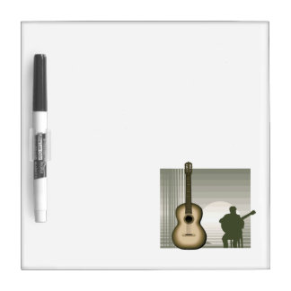 acoustic guitar player sitting brown.png dry erase boards
