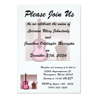acoustic guitar player sitting pink.png personalized invitations