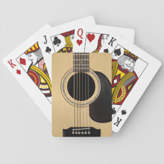 Acoustic Guitar Playing Cards