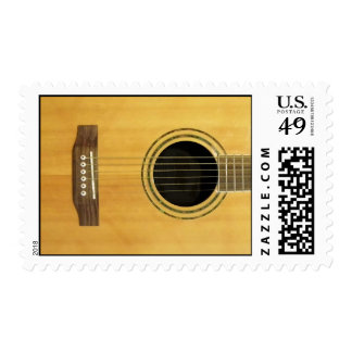 Acoustic Guitar Postage Stamp