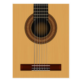 Acoustic Guitar Postcard
