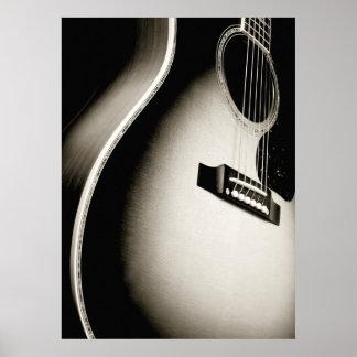 acoustic guitar print