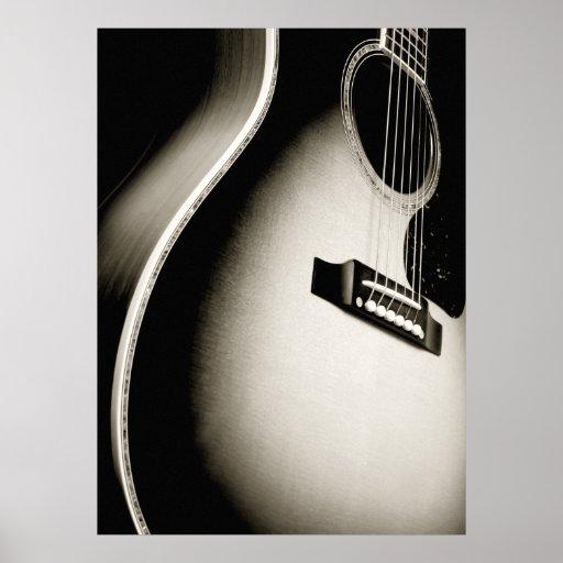 acoustic guitar poster